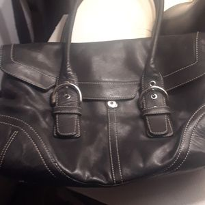 Coach Black Satchel Bag